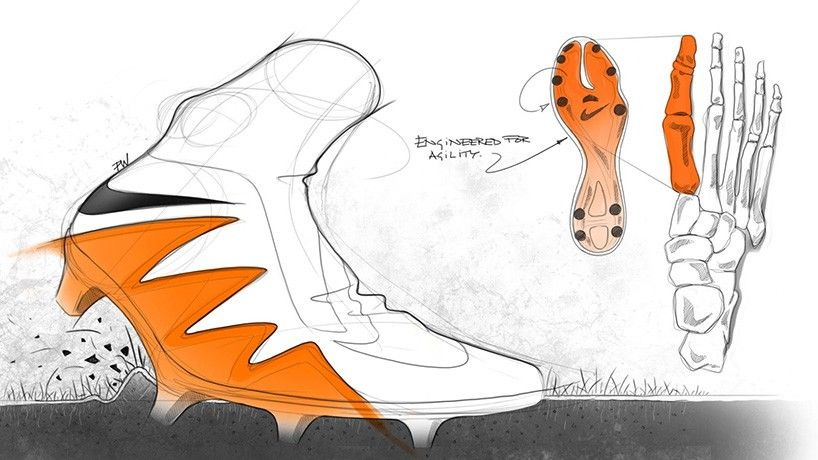 Nike Hypervenom Ii Football Boot Design Sketch Sketches Shoe Design Sketches