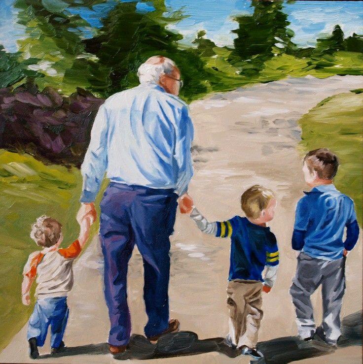 Бабушка с дедушкой и внуки картинки для детей