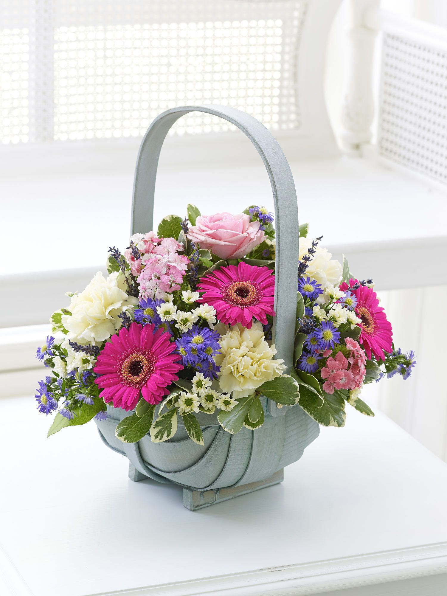 Summer Basket Interflora Basket flower arrangements