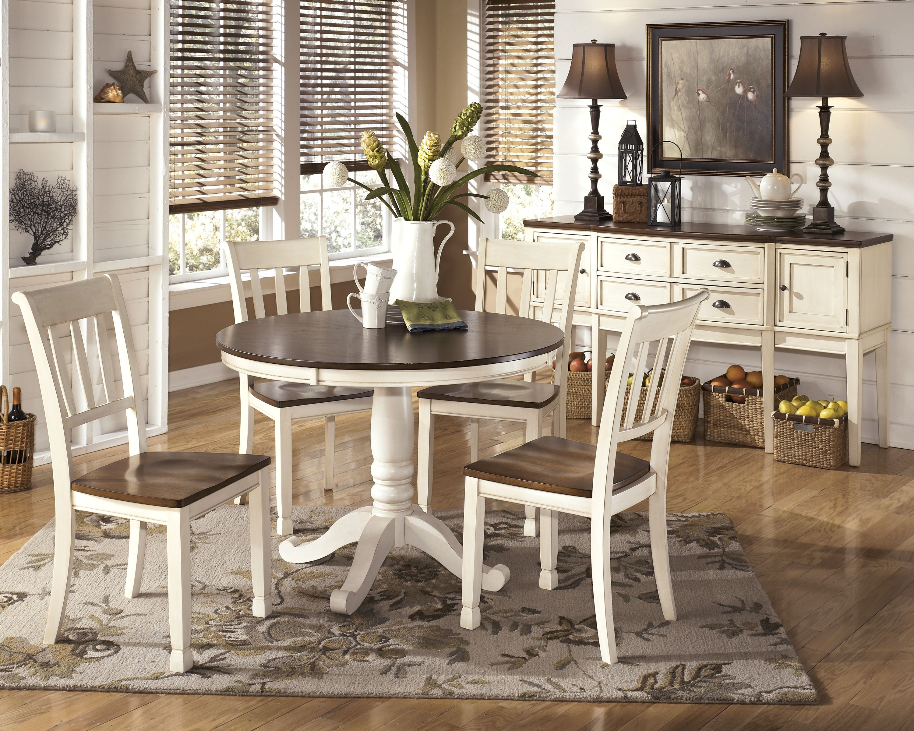 Round dining table and chairs for 4  Casual Round Table ud W x ud D x ud H Casual Rectangle Table