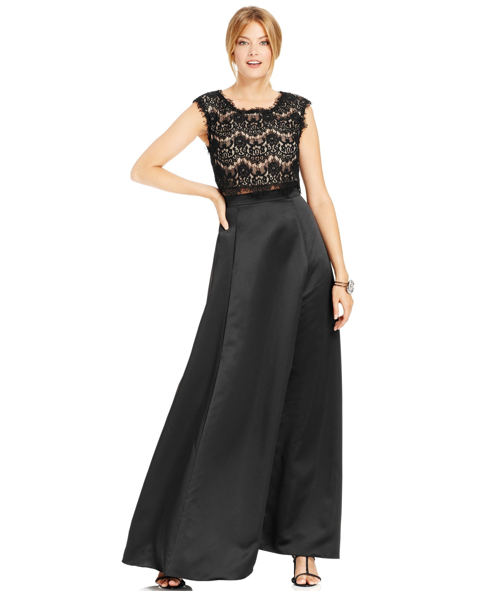 Betsy u adam mock twopiece lace ball gown products pinterest