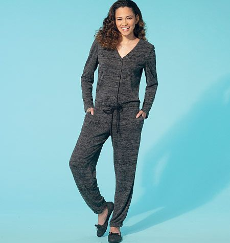 Relaxed jumpsuit sewing pattern from McCall\'s. M7296, Misses\' Romper ...