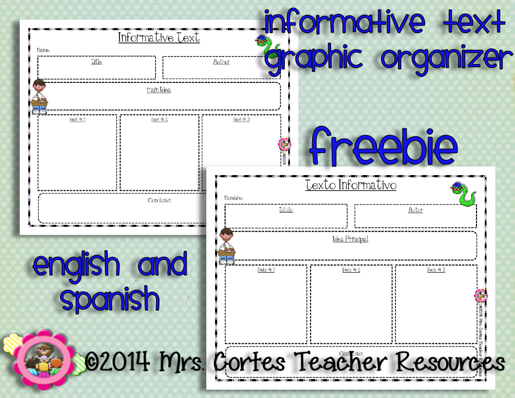 informative writing graphic organizer. bilingual | teaching