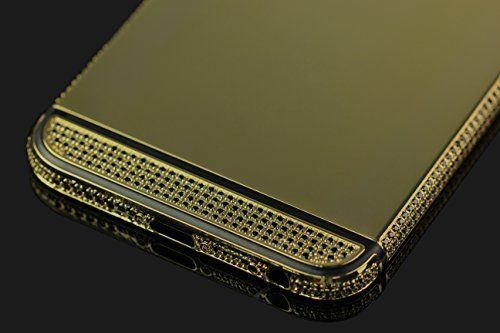iPhone 6 Plus Housing 24K Gold Luxury Case Fashion High Quality Crystals Exclusive Replacement Part Logo Stylish Shiny Back Panel Stripe Metal Limited Edition Aluminium Mid Frame Cover
