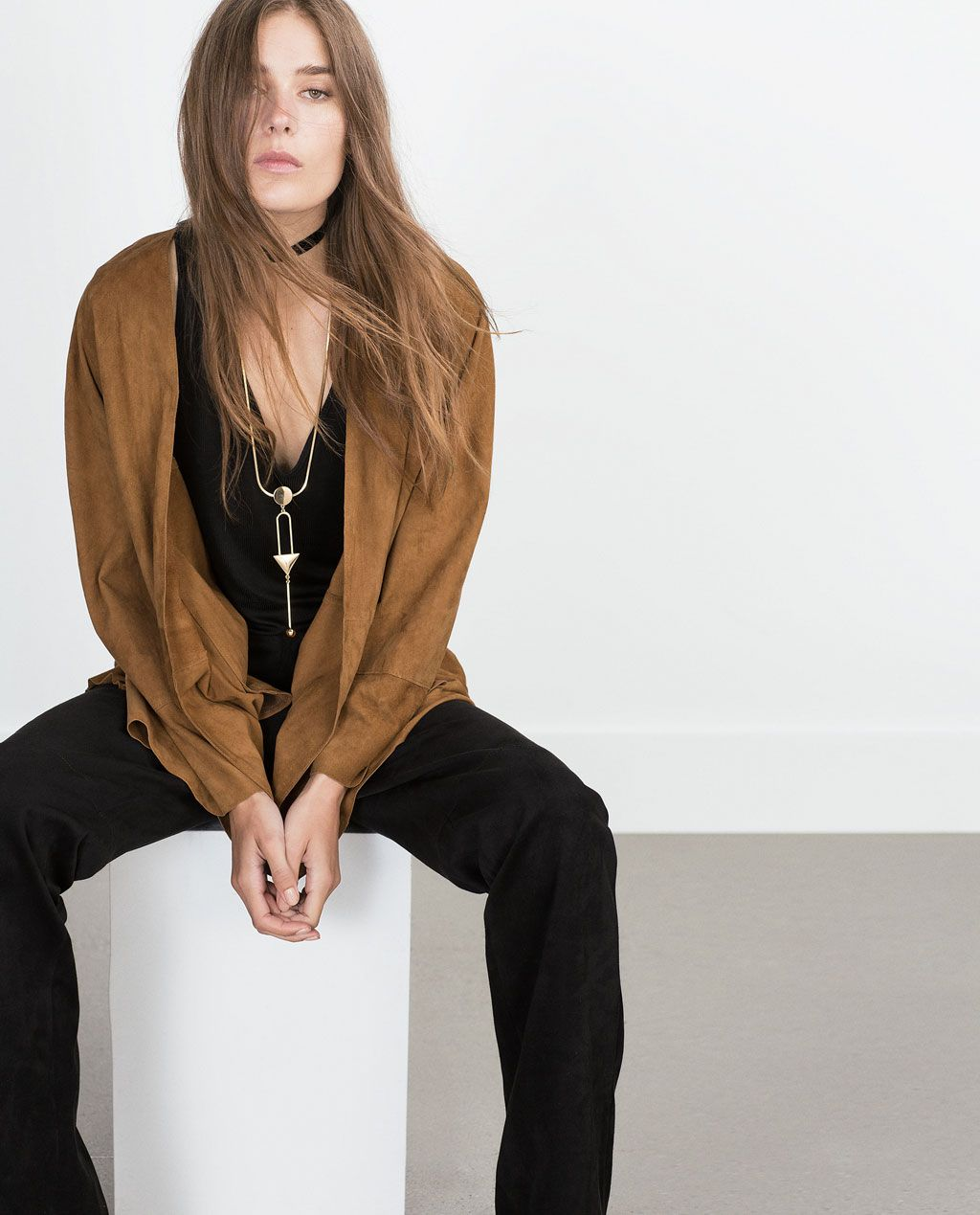 29a53cba LONG NECKLACE WITH GEOMETRICAL PIECES-Boho-Trends-WOMAN | ZARA United States