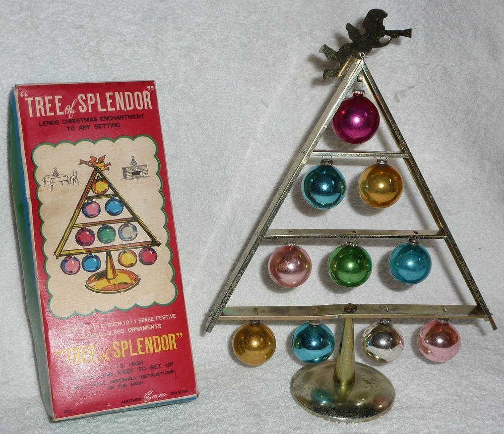 1950s vintage mercury glass bauble chrome christmas tree decoration retro h83 mercury glass bauble