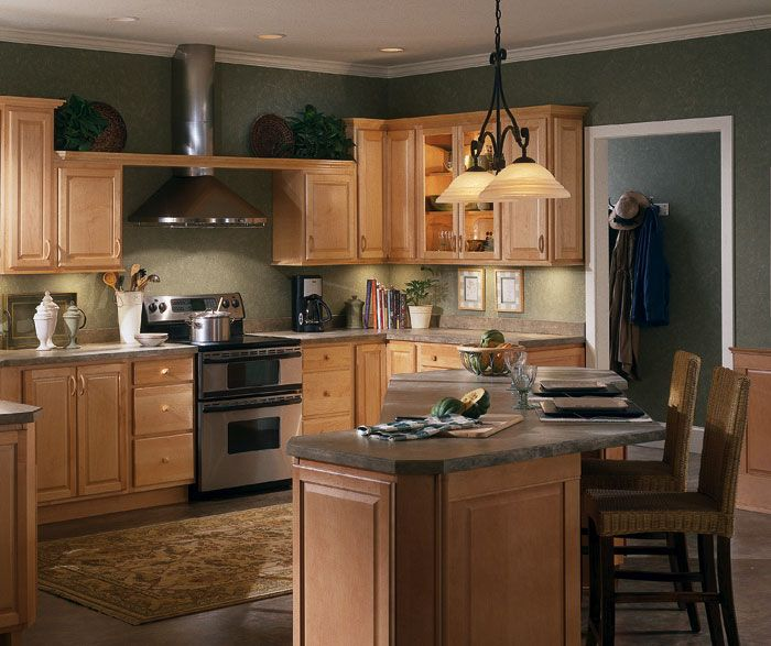 Kitchen Remodel Kalamazoo Mi: Natural Maple Kitchen Cabinets By Homecrest Cabinetry