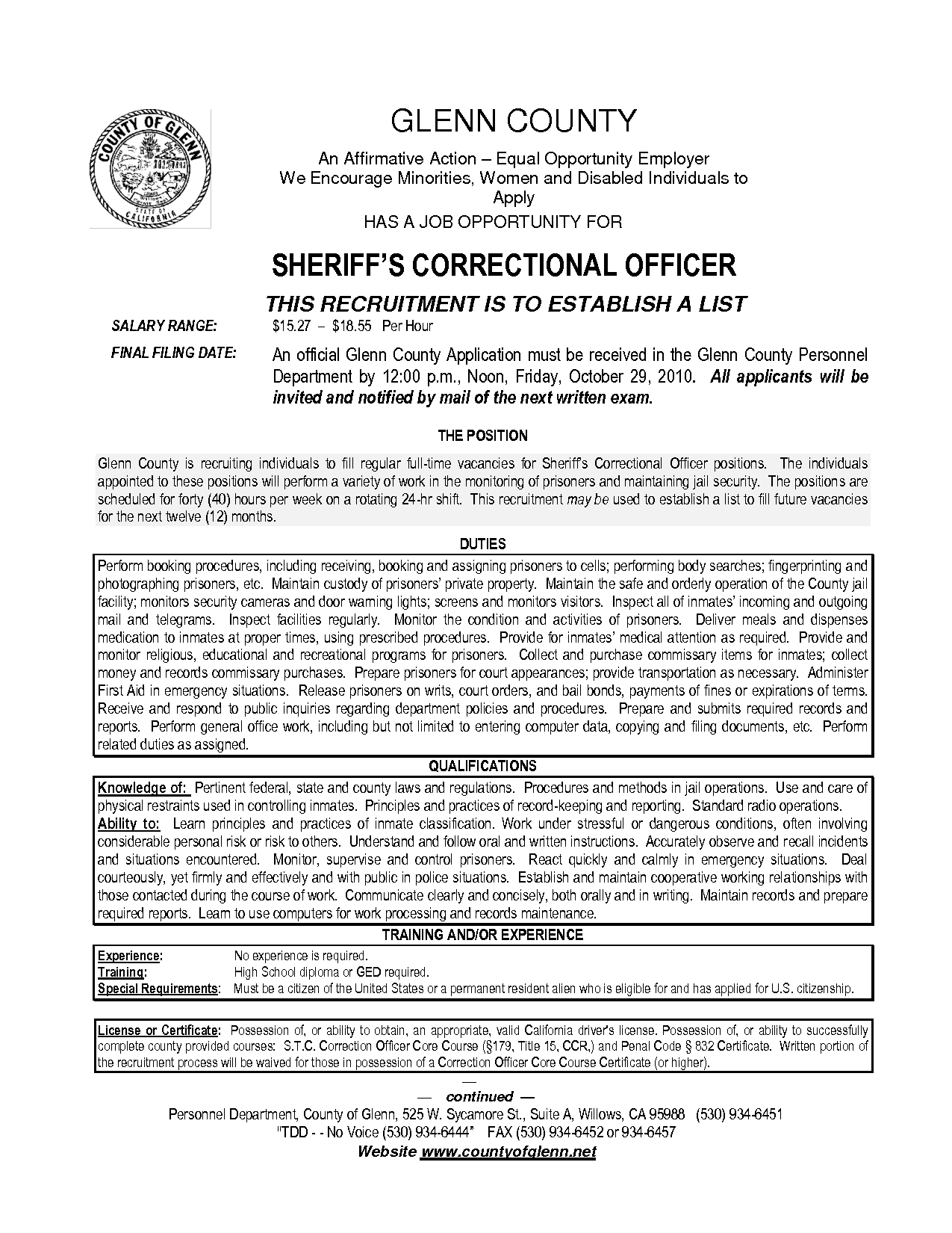Resume For Juvenile Detention Officer  HttpWwwResumecareer