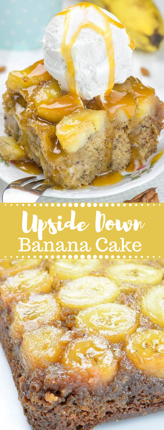 Banana Upside Down Cake #cake #banana #dessert #pie #pumpkin #bananapie