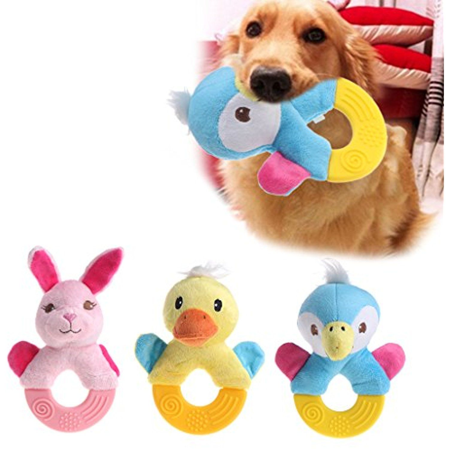 Nnda Co Squeaky Dog Toy 1pc Squeaker Teething Clean Toy Grinding