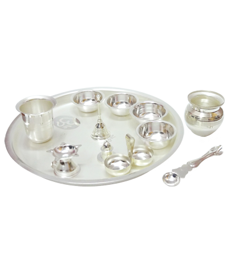 Pooja Set of 12pcsSilver PlatedOnline Gifts Shopping India  sc 1 st  Pinterest & Pooja Set of 12pcsSilver PlatedOnline Gifts Shopping India ...