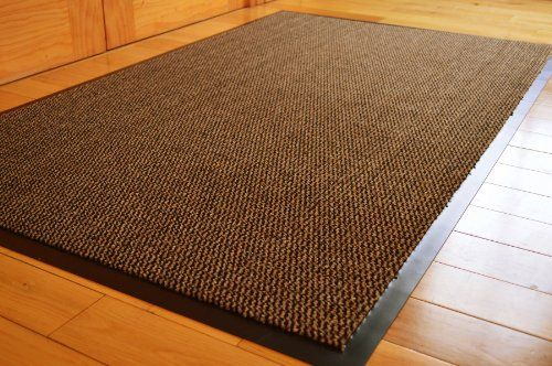 Barrier Mat Large Brown Black Door Mat Rubber Backed Medium
