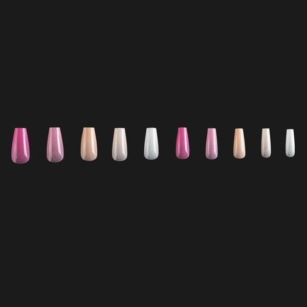 ArtMe x Aprés Gel-X Tips - Base Color - Sculpted Coffin Medium ArtMe x Aprés Gel-X tips are the perfect length and shape for everyday glam. These tips are medium length sized and have a coffin shape. The ArtMe x Aprés Gel-X tips enhancements are included in Aprés' sculpted line. This is indicative of their curved shape that has a more pronounced C-curve. The tips are formulated with soft-gel so they feel natural and look fantastic. These are best used in combination with Aprés' Extend Gel to des