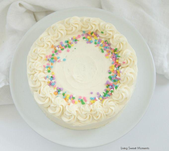 Birthday Cake Icing Receta Pastelitos