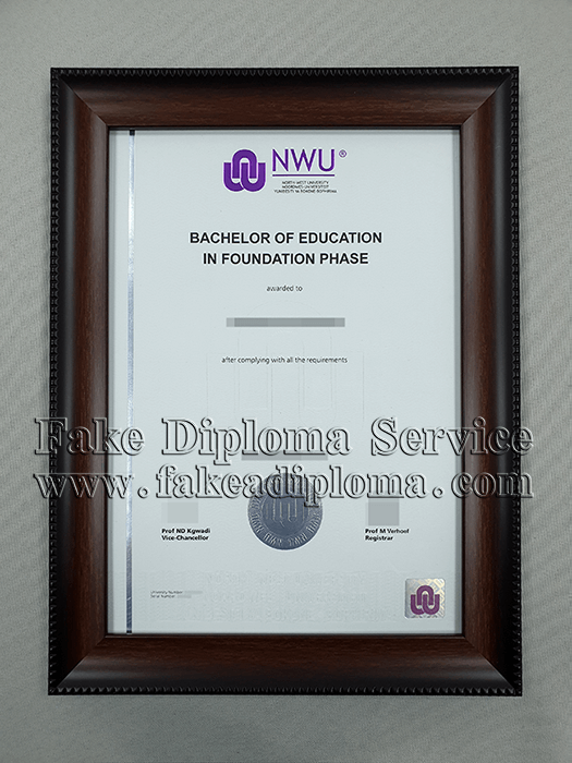 Buy Fake North West University Degree Nwu Diploma Sample How To Get Fake South Africa Universit North West University University Degree Bachelor Of Education