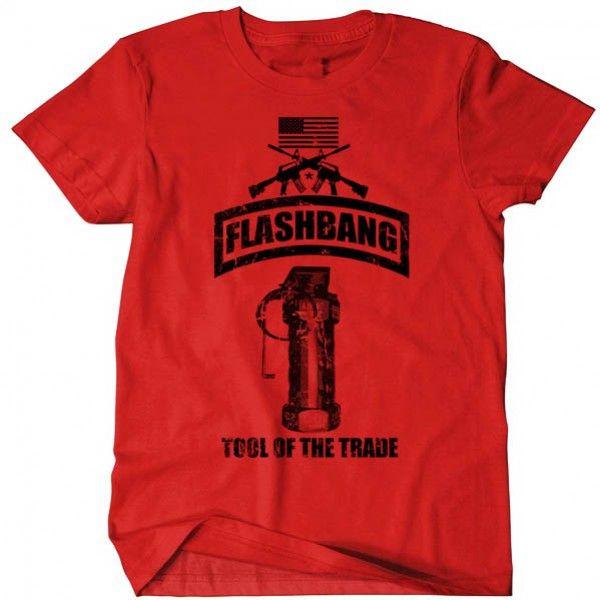 14904c26c4 Flashbang T-Shirt USMC Army Navy Seals Military Men-Cotton-Tee II ...