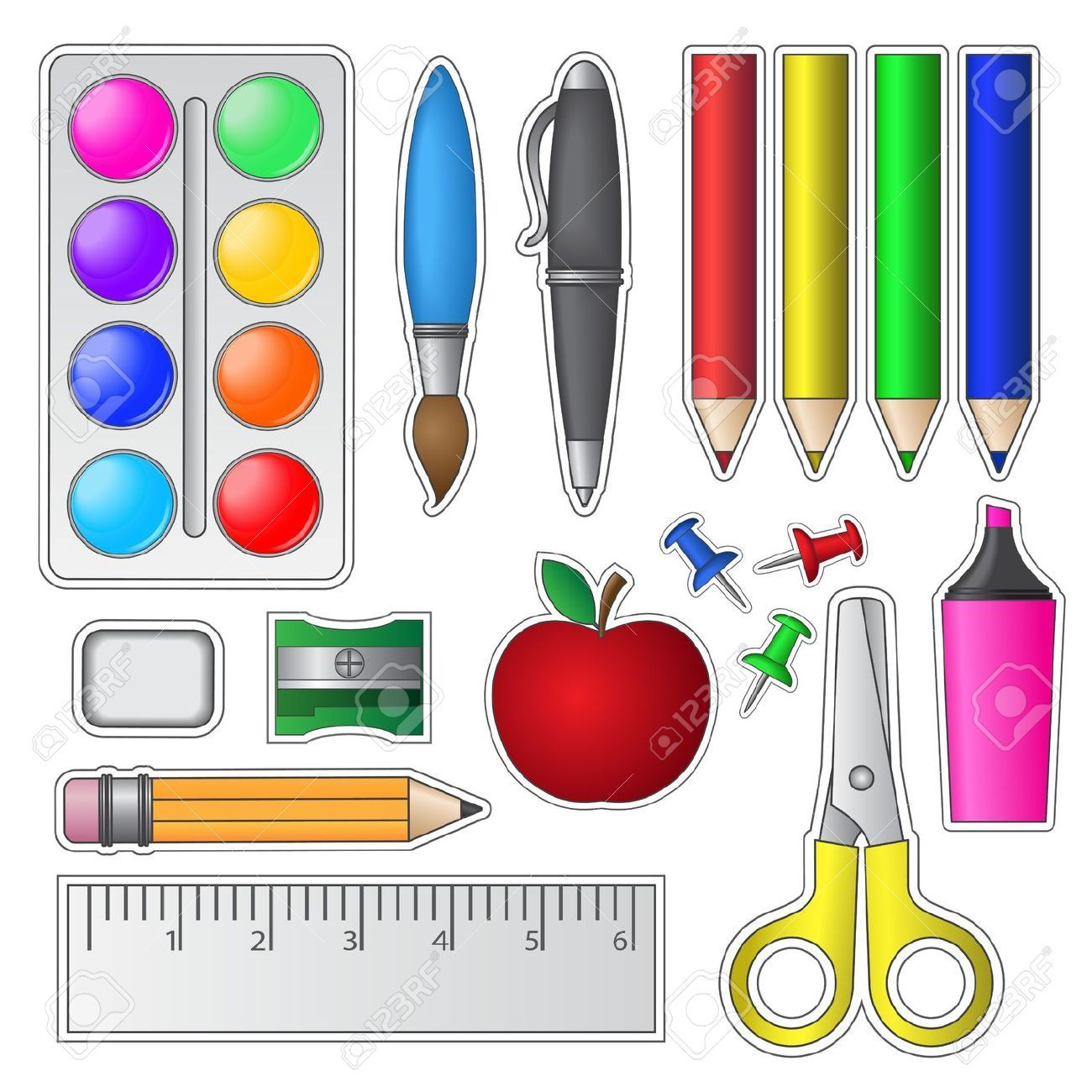 Dibujo Utiles Escolar M S Dibujillos Pinterest