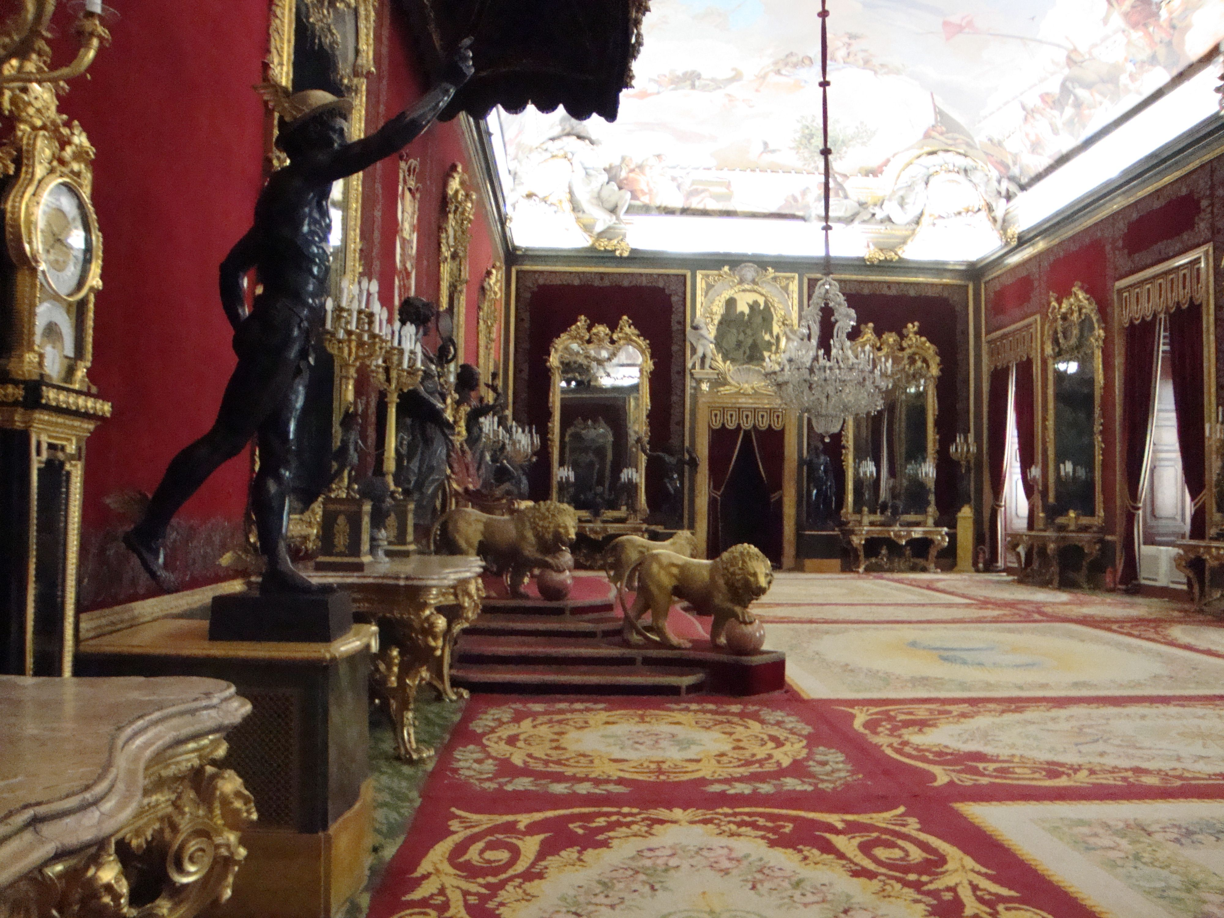 Throne Room Royal Palace Madrid Interiores Pinterest