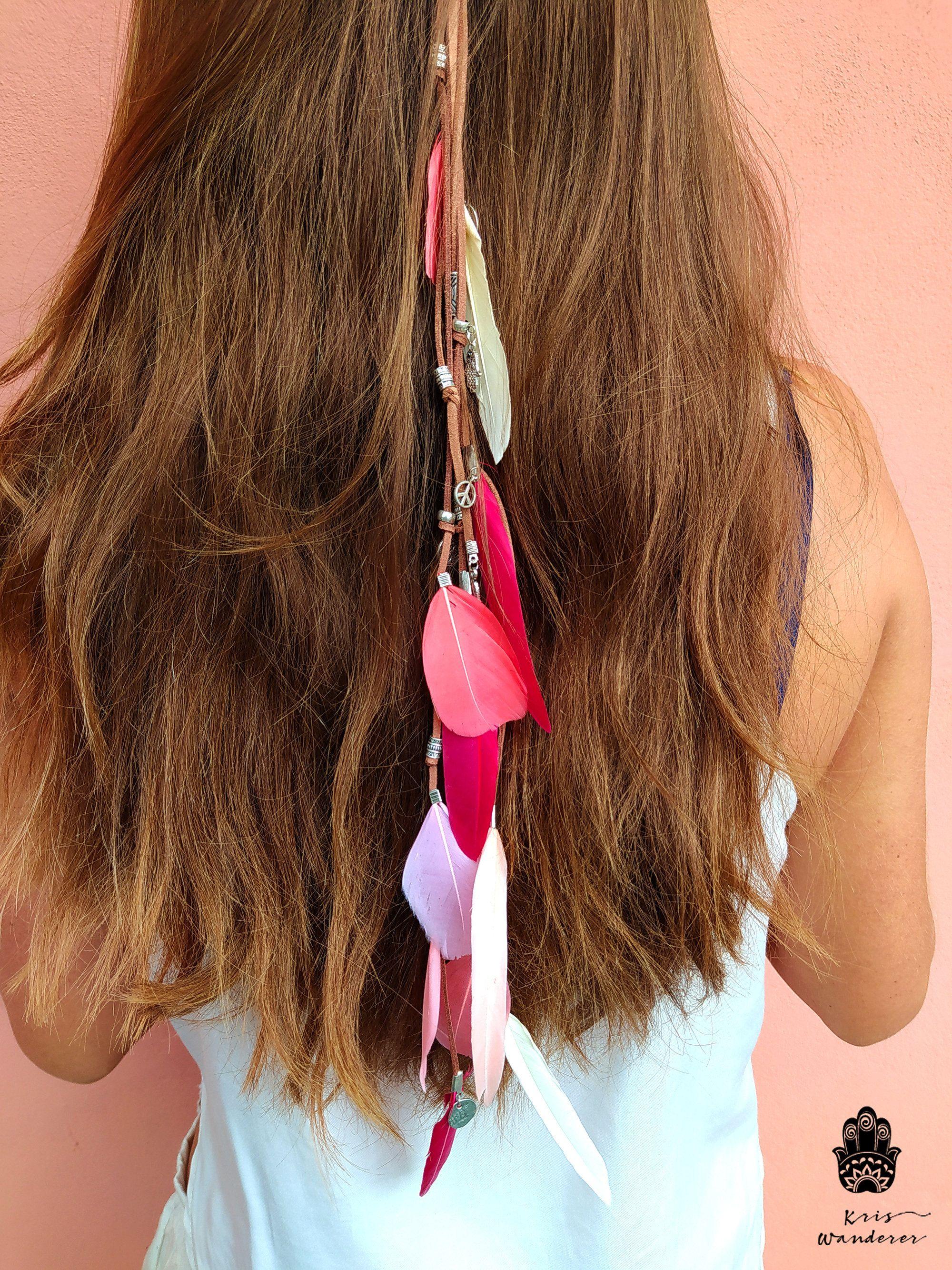 Feather hair clip Indian hair accessories Boho hair feathers Bridal hair accessories Feather hair extension clip