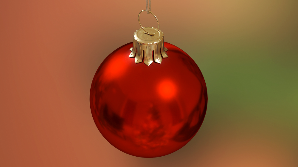 Christmas Ball Red Glossy 3d Model Turbosquid 1446166 In 2020 Christmas Balls Christmas Bulbs Glossy