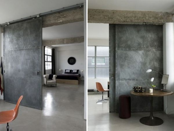 Dark #industrial Style #design With Sliding Barn #doors