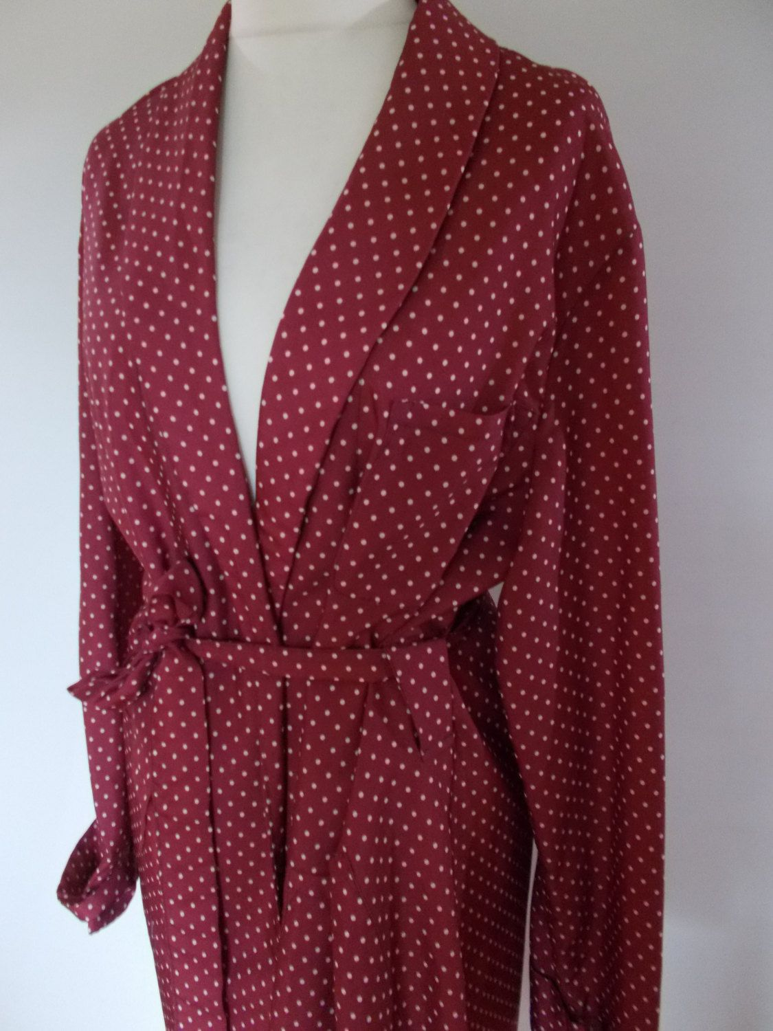 Vintage mens robe dressing gown by Buckingham of London in Faux silk ...