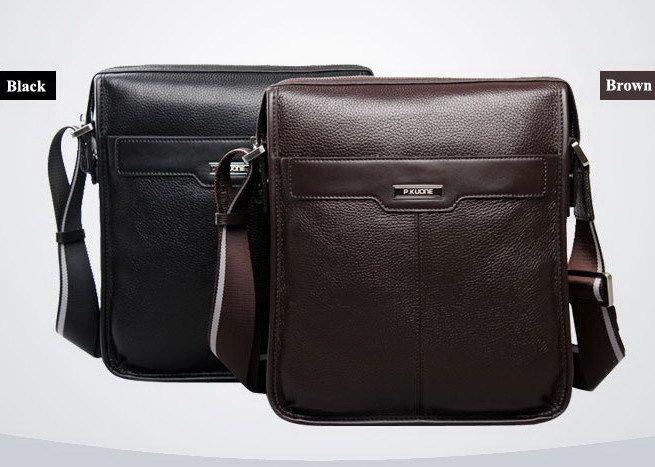 915c805c3f9 P.KUONE new casual cowhide Genuine leather men messenger bag, man fashion shoulder  bag