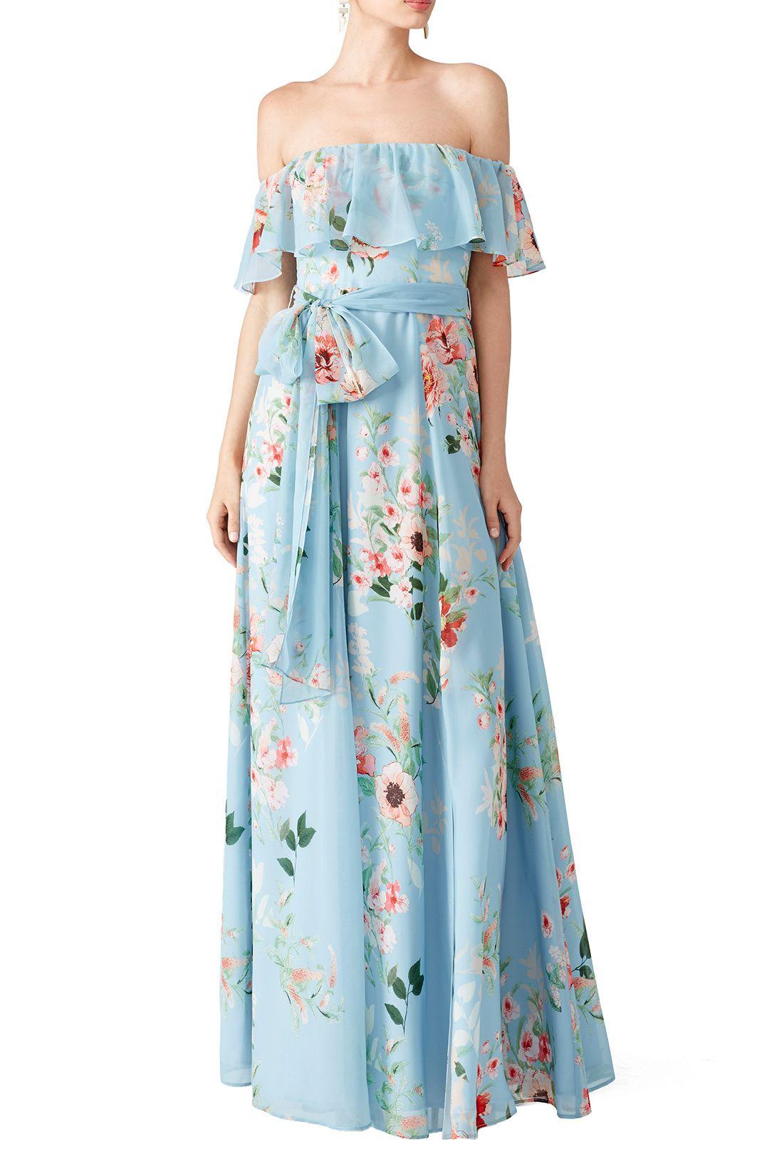 Floral Carmen Maxi | Summer weddings, Floral maxi dress and Floral maxi