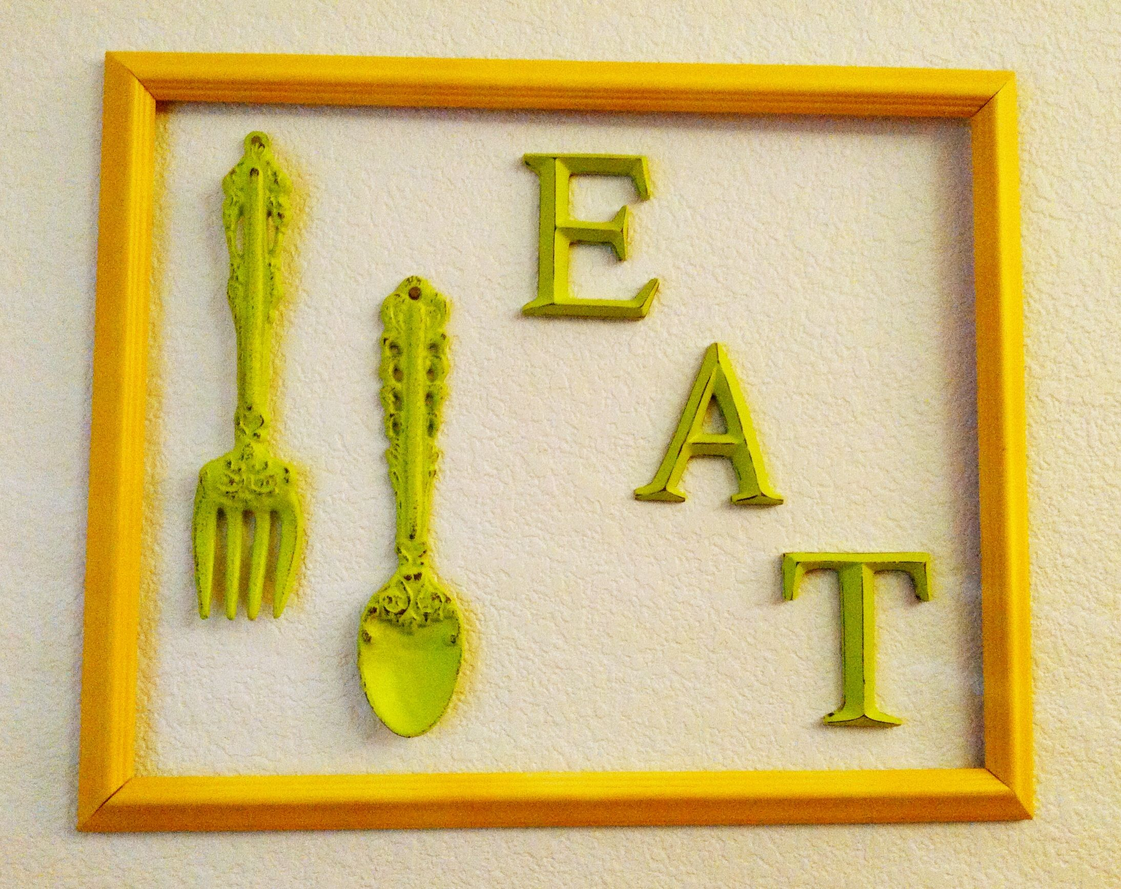 More kitchen wall art..Bought fork, spoon and \