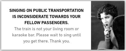 If You Sing On Public Transportation, We Can't Be Friends