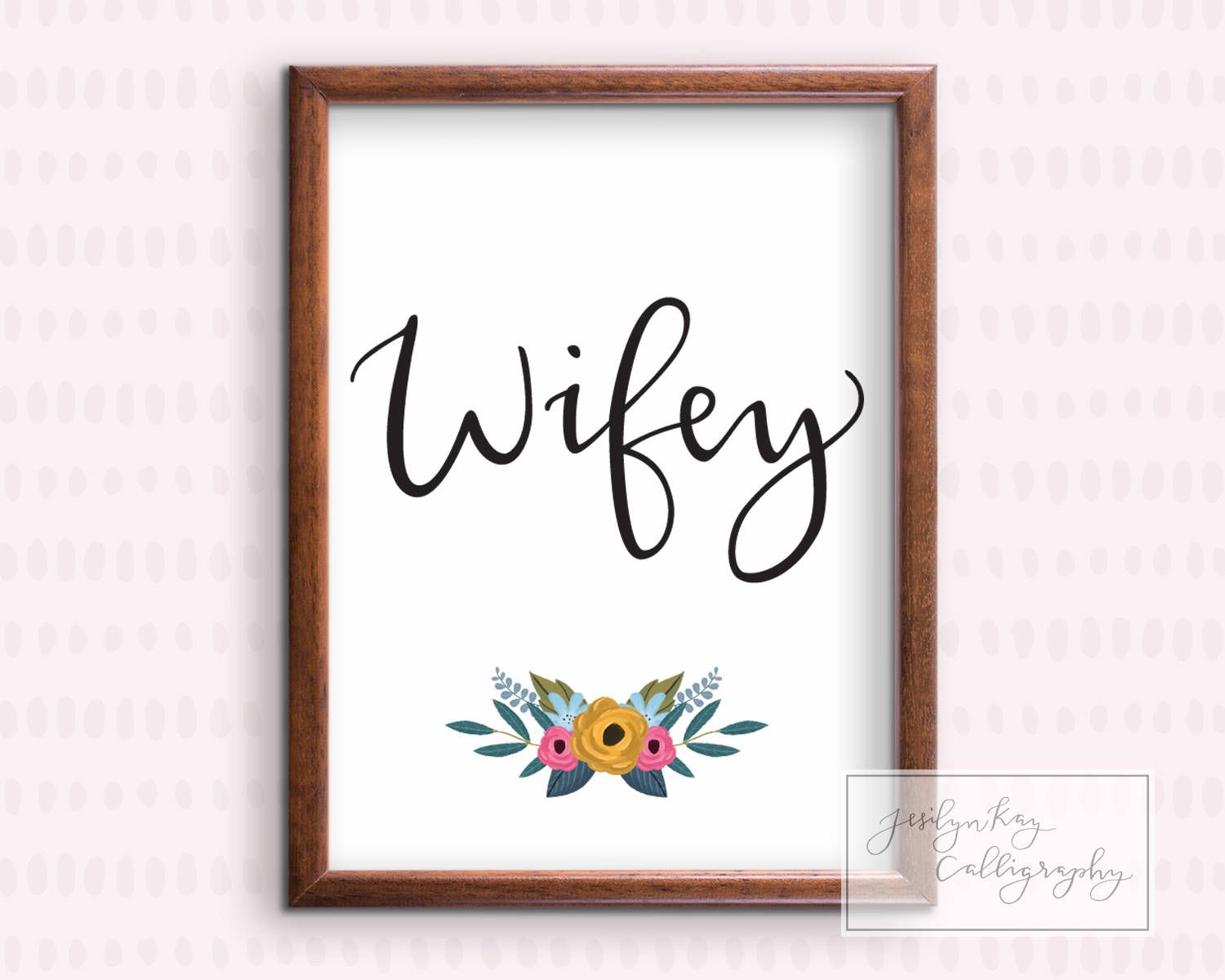 Adorable WIfey Printable for Bachelorette Parties and Bridal Showers ...