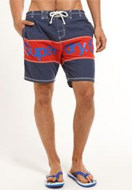 Shop Superdry Mens Premium Panel Boardshort in Dark Blue/emergency Red. Buy  now with free delivery from the Official Superdry Store.