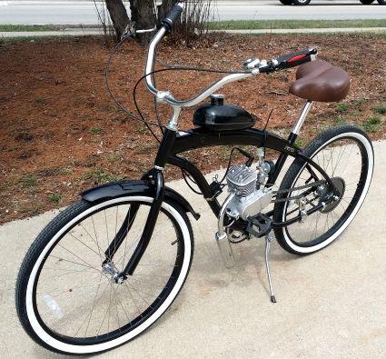 80cc Gas Bike Dewey Bicycle With Engine Stretch Street Cruiser