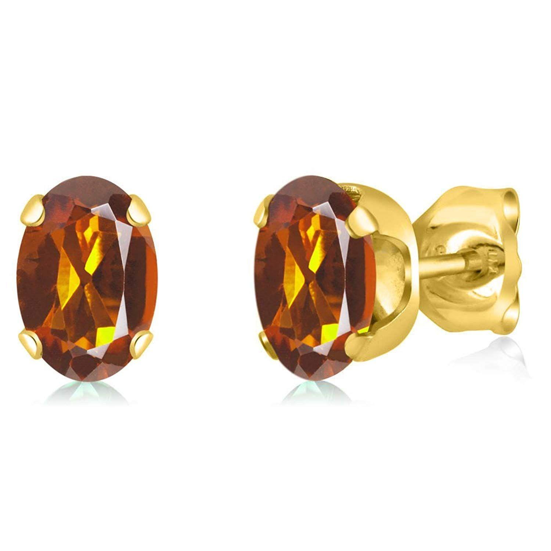 ct oval orange red madeira citrine k yellow gold pendant