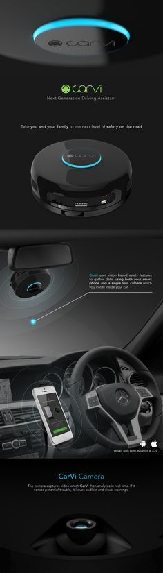 #IoT #crowdfunding CarVi - Smart Tech for Safer Driving. #smartcar Versatile, Affordable and Easy to Install Driver's Assistant   Indiegogo