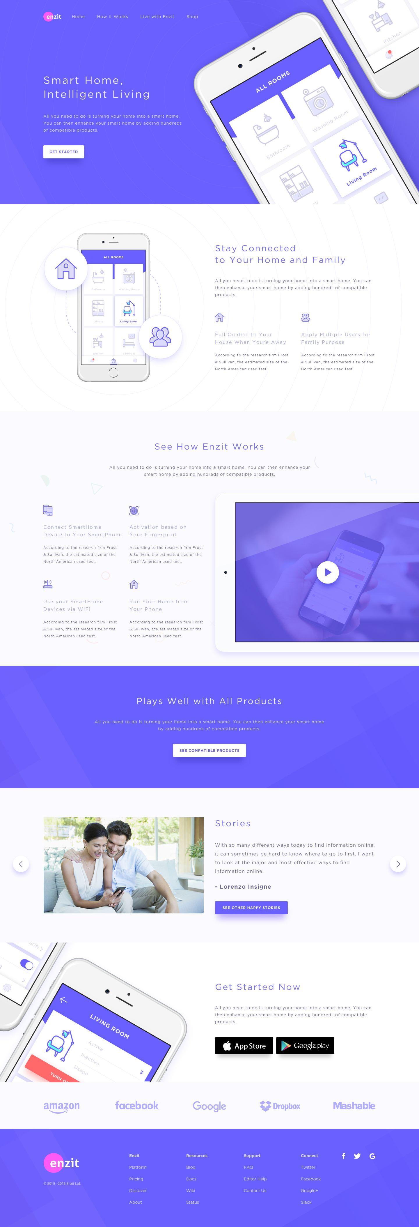 Smart Home Landing Page | Website Design | Pinterest | Ui ux, App ...