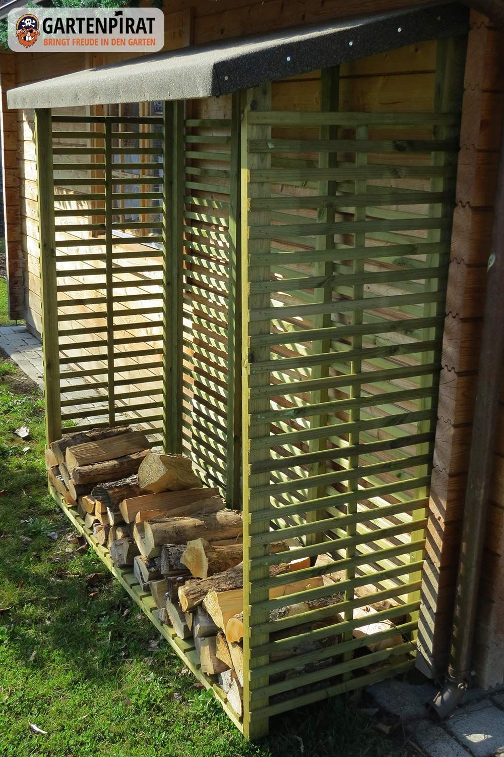 Pin By Betty Chaires On Haus Ideen Outdoor Firewood Rack Outdoor Design Wood Shed