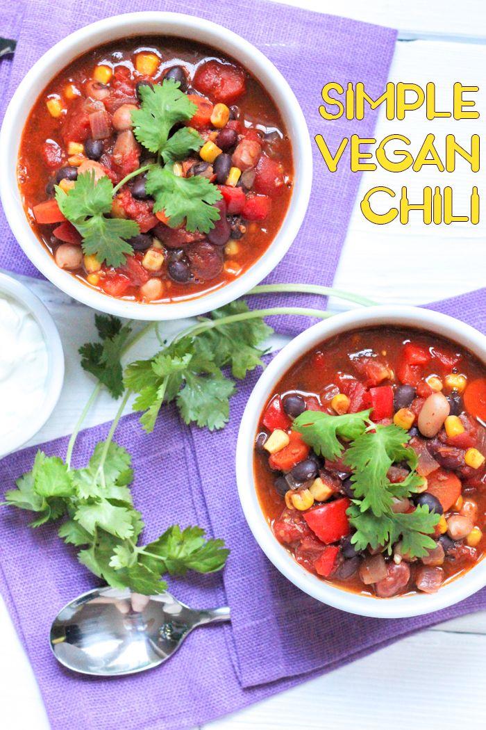 Simple Vegan Chili | Klean Kuisine #vegan #easyrecipe #eatclean