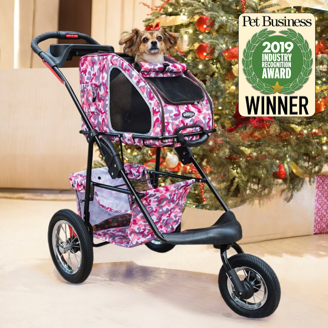 5in1 Pet Stroller (with Pet Carrier and Stroller Frame