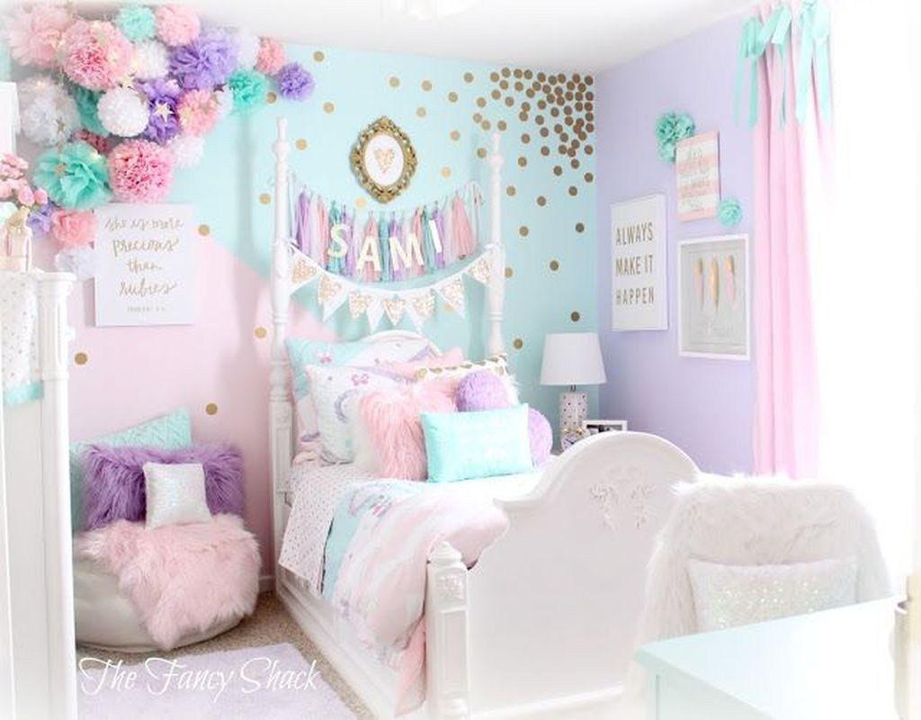 46 Lovely Girls Bedroom Ideas Trendehouse Pastel Girls Room Girl Bedroom Decor Girl Room