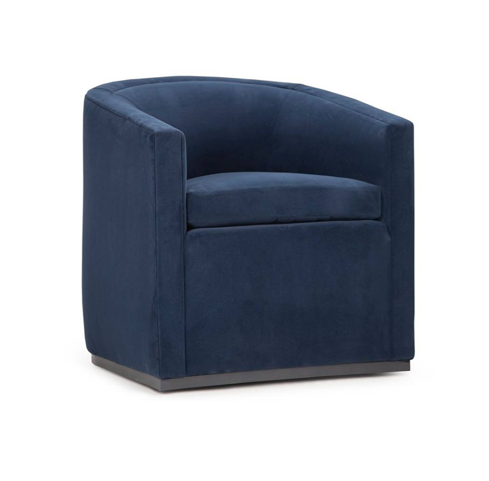 Bold contemporary style in our new Avery Swivel Chair. Condo-sized