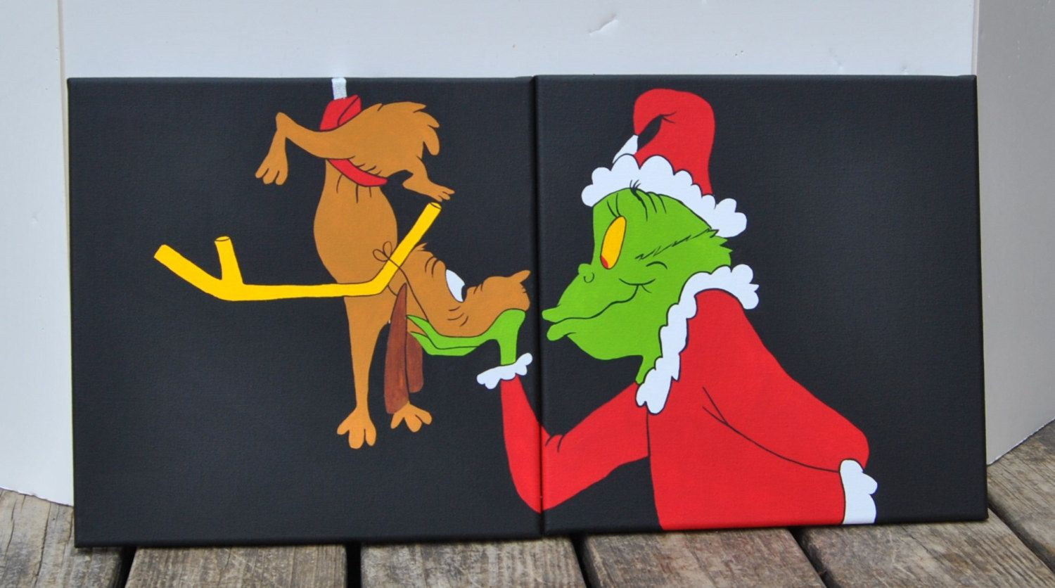 Pix For Gt Easy Christmas Paintings On Canvas For Kids