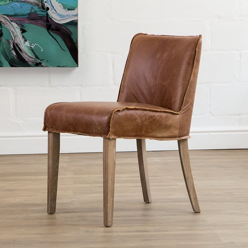 Christian Tan Leather Dining Chair Onedayonly Co Za In 2020