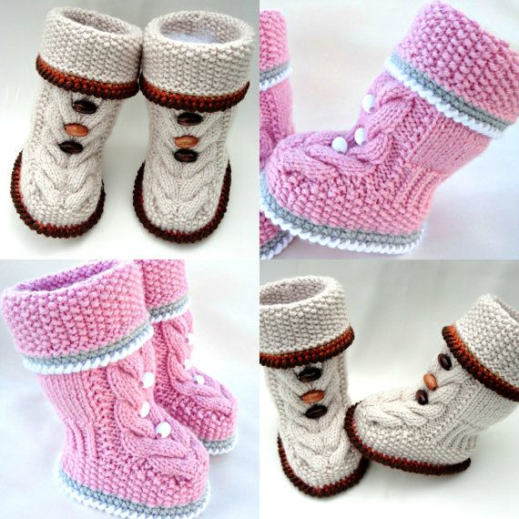 Knitting Pattern Baby Booties Baby Shoes Pattern Knitted Baby