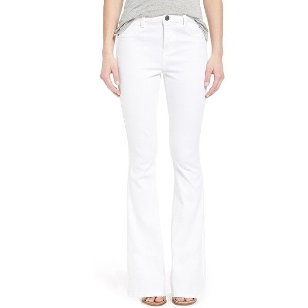 Junior Generra Flare Leg Jeans ($68) ❤ liked on Polyvore ...