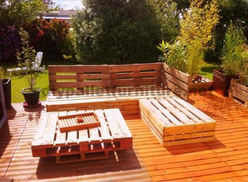 Garden Lounge mit Paletten 3 | Balkon | Pinterest | Lounges, Sofa ...