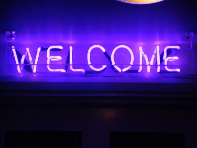 neon purple signs light lights aesthetic welcome cool words wallpapers rock electric room sign2 colour brand hotel therefore valerie included