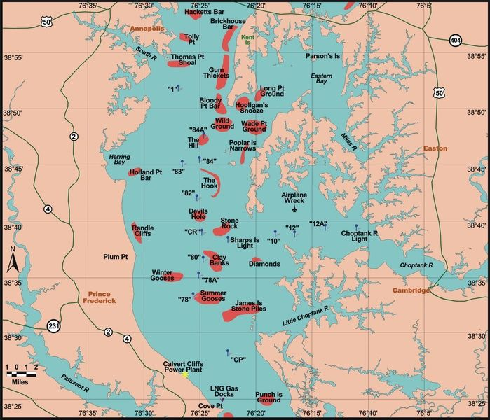 Chesapeake Bay Fishing Hot Spots | Chesapeake Bay Fishing