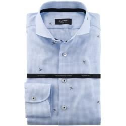 Photo of Olymp signature shirt, tailored fit, extra long arm, bleu, 41 Olymp
