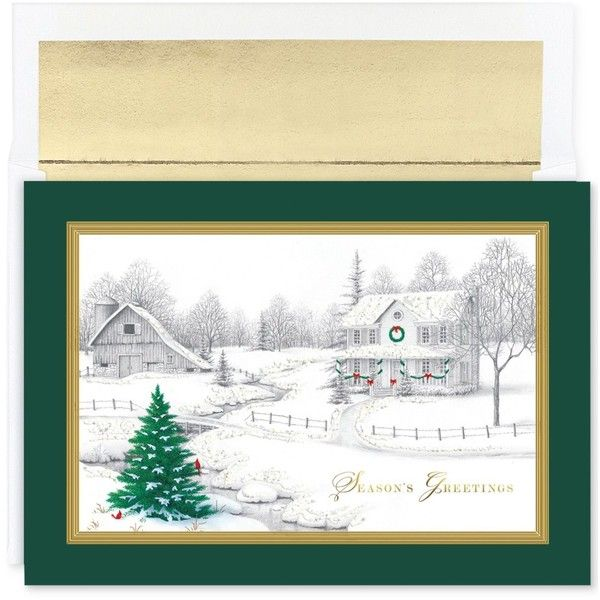 Masterpiece Cards Winter Scene Set Of 16 Boxed Holiday Greeting